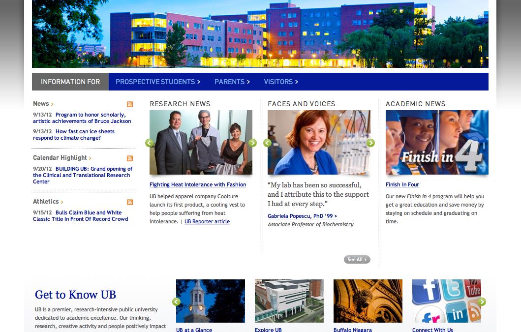 University at Buffalo Pilot Web Project